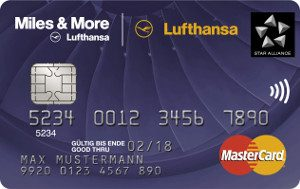 Blue Lufthansa Miles and More MasterCard Kreditkarte