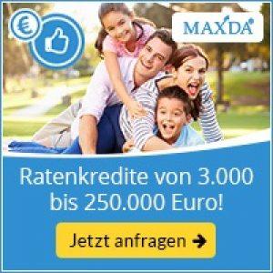 MAXDA: Ratenkredit ohne Schufa-Abfrage